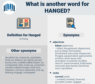 Hanged, synonym Hanged, another word for Hanged, words like Hanged, thesaurus Hanged