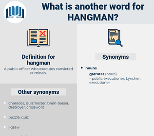 hangman, synonym hangman, another word for hangman, words like hangman, thesaurus hangman