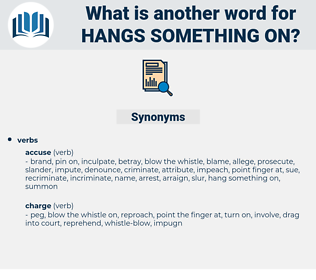 hangs something on, synonym hangs something on, another word for hangs something on, words like hangs something on, thesaurus hangs something on