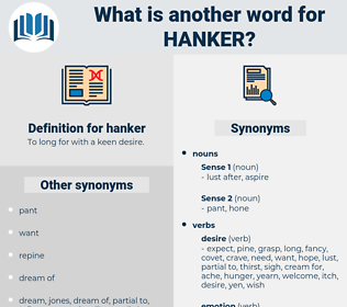 hanker, synonym hanker, another word for hanker, words like hanker, thesaurus hanker
