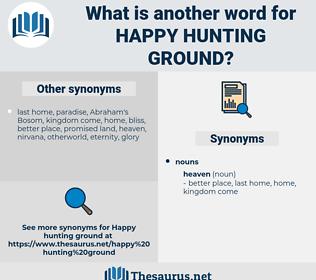 happy hunting ground, synonym happy hunting ground, another word for happy hunting ground, words like happy hunting ground, thesaurus happy hunting ground