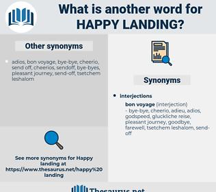 happy landing, synonym happy landing, another word for happy landing, words like happy landing, thesaurus happy landing