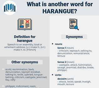 harangue, synonym harangue, another word for harangue, words like harangue, thesaurus harangue