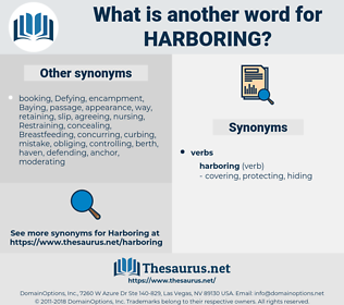 Harboring, synonym Harboring, another word for Harboring, words like Harboring, thesaurus Harboring