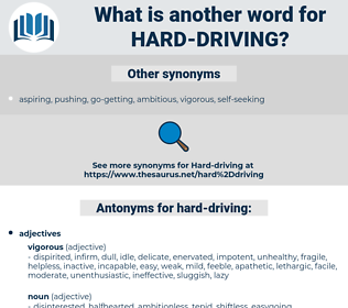 hard-driving, synonym hard-driving, another word for hard-driving, words like hard-driving, thesaurus hard-driving