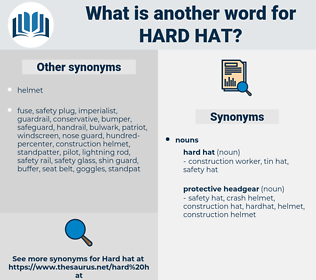 hard hat, synonym hard hat, another word for hard hat, words like hard hat, thesaurus hard hat