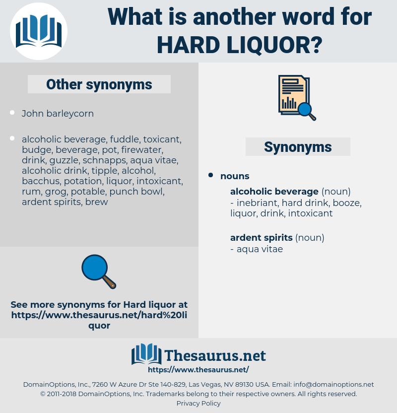 hard liquor, synonym hard liquor, another word for hard liquor, words like hard liquor, thesaurus hard liquor