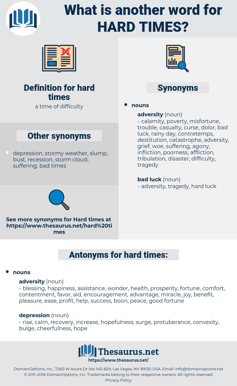 Synonyms for HARD TIMES - Thesaurus.net