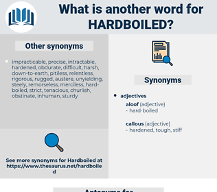 hardboiled, synonym hardboiled, another word for hardboiled, words like hardboiled, thesaurus hardboiled