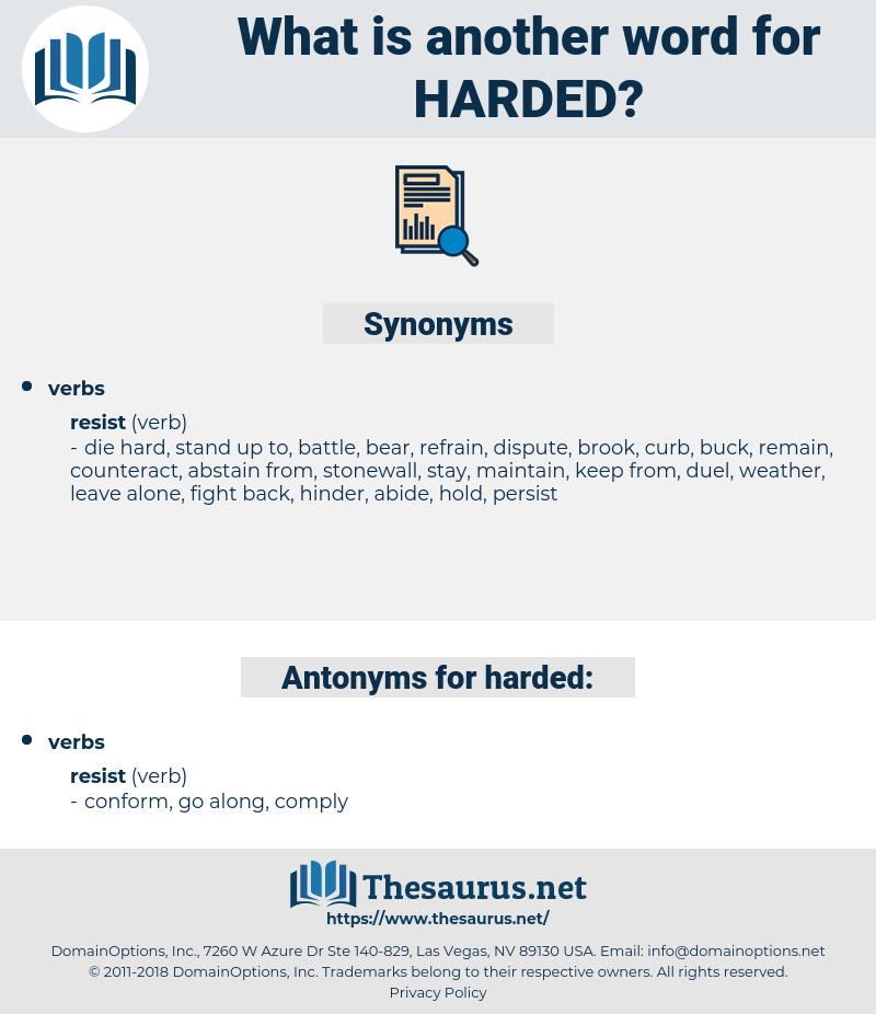 harded, synonym harded, another word for harded, words like harded, thesaurus harded