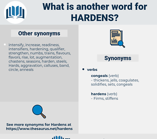 hardens, synonym hardens, another word for hardens, words like hardens, thesaurus hardens