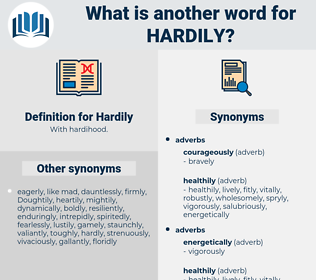 Hardily, synonym Hardily, another word for Hardily, words like Hardily, thesaurus Hardily