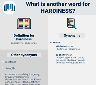 hardiness, synonym hardiness, another word for hardiness, words like hardiness, thesaurus hardiness