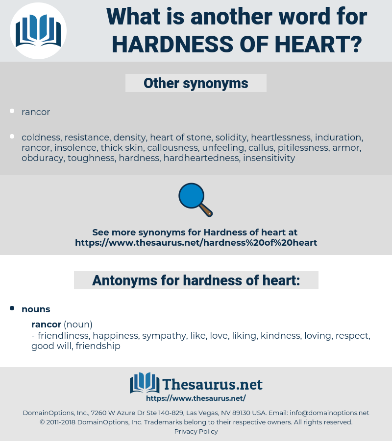 hardness of heart, synonym hardness of heart, another word for hardness of heart, words like hardness of heart, thesaurus hardness of heart