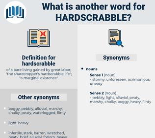 hardscrabble, synonym hardscrabble, another word for hardscrabble, words like hardscrabble, thesaurus hardscrabble
