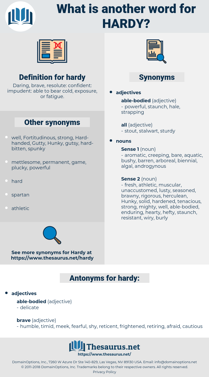 hardy, synonym hardy, another word for hardy, words like hardy, thesaurus hardy