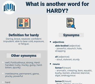 hardy, synonym hardy, another word for hardy, words like hardy, thesaurus hardy