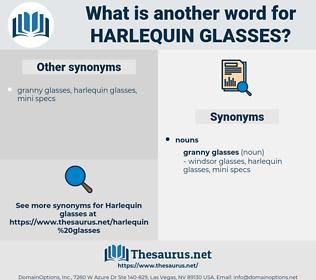 harlequin glasses, synonym harlequin glasses, another word for harlequin glasses, words like harlequin glasses, thesaurus harlequin glasses