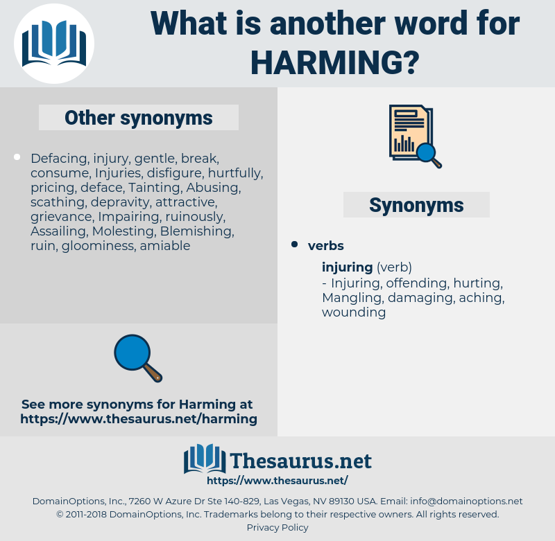 Harming, synonym Harming, another word for Harming, words like Harming, thesaurus Harming