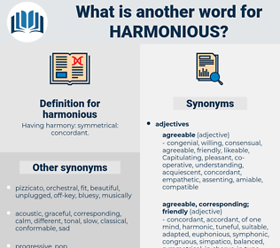 harmonious, synonym harmonious, another word for harmonious, words like harmonious, thesaurus harmonious