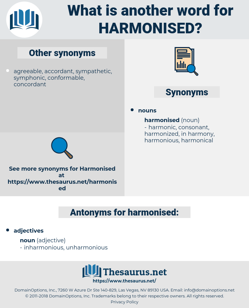 harmonised, synonym harmonised, another word for harmonised, words like harmonised, thesaurus harmonised