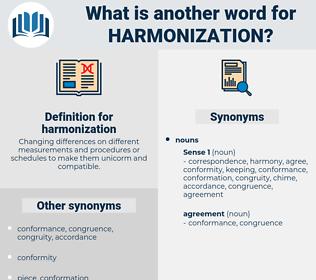 harmonization, synonym harmonization, another word for harmonization, words like harmonization, thesaurus harmonization
