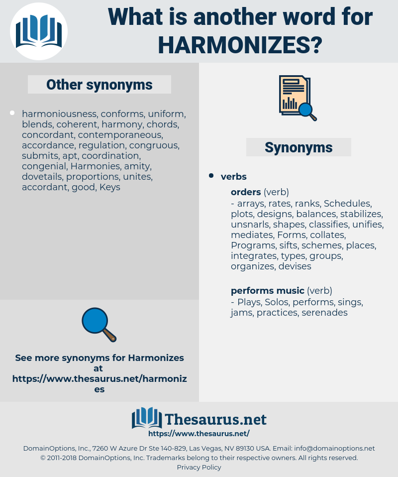 harmonizes, synonym harmonizes, another word for harmonizes, words like harmonizes, thesaurus harmonizes