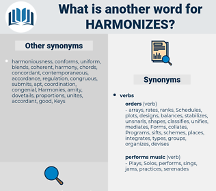 harmonizes, synonym harmonizes, another word for harmonizes, words like harmonizes, thesaurus harmonizes