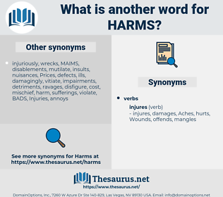 harms, synonym harms, another word for harms, words like harms, thesaurus harms