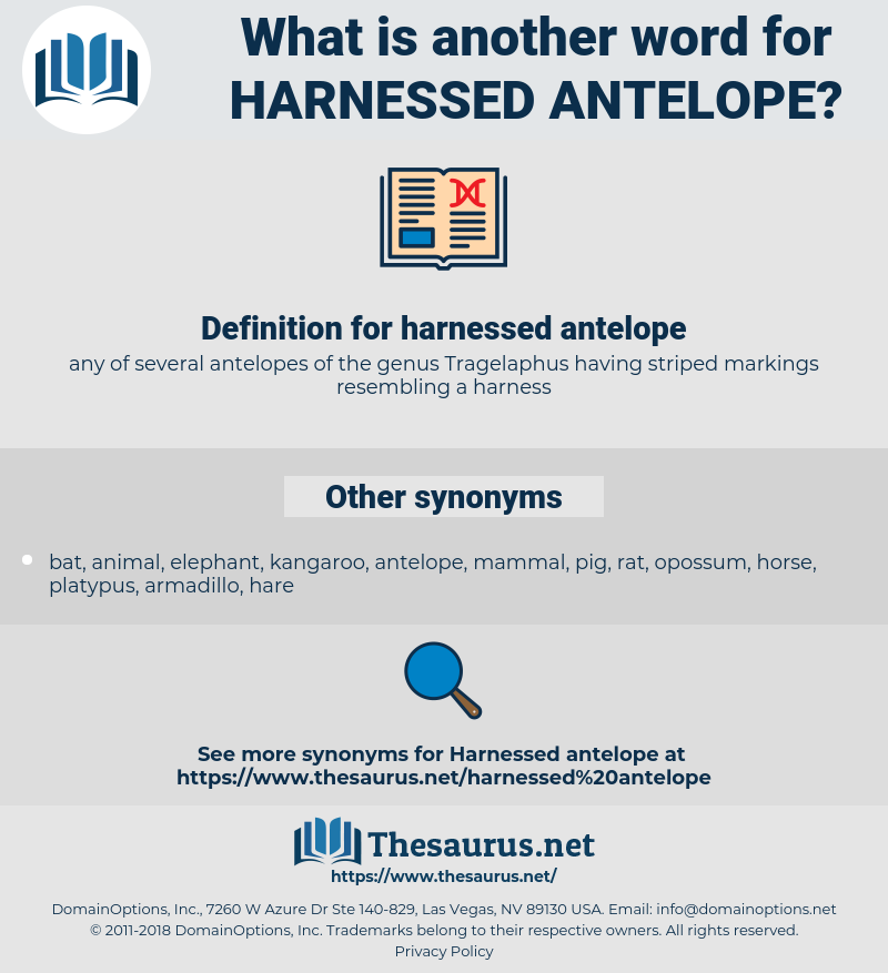harnessed antelope, synonym harnessed antelope, another word for harnessed antelope, words like harnessed antelope, thesaurus harnessed antelope