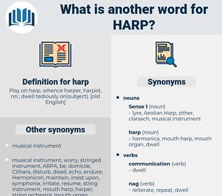 harp, synonym harp, another word for harp, words like harp, thesaurus harp