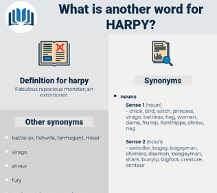 harpy, synonym harpy, another word for harpy, words like harpy, thesaurus harpy