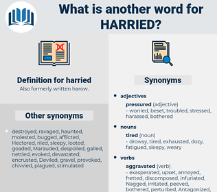 harried, synonym harried, another word for harried, words like harried, thesaurus harried