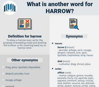 harrow, synonym harrow, another word for harrow, words like harrow, thesaurus harrow