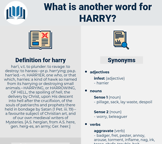 harry, synonym harry, another word for harry, words like harry, thesaurus harry