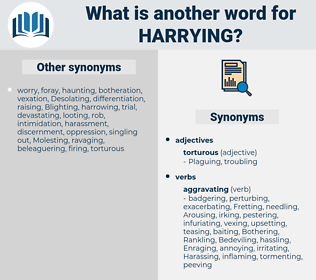 Harrying, synonym Harrying, another word for Harrying, words like Harrying, thesaurus Harrying