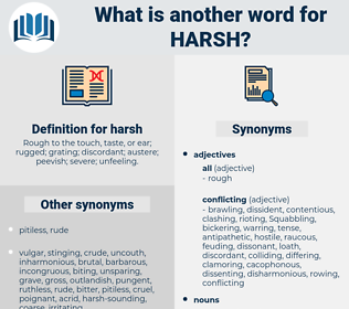 harsh, synonym harsh, another word for harsh, words like harsh, thesaurus harsh