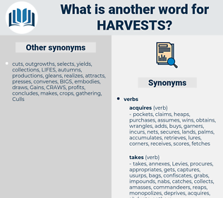 harvests, synonym harvests, another word for harvests, words like harvests, thesaurus harvests
