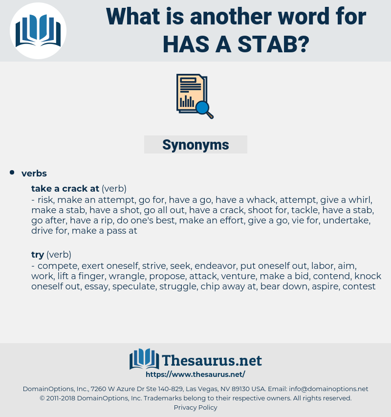has a stab, synonym has a stab, another word for has a stab, words like has a stab, thesaurus has a stab
