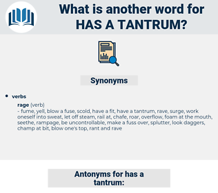 has a tantrum, synonym has a tantrum, another word for has a tantrum, words like has a tantrum, thesaurus has a tantrum
