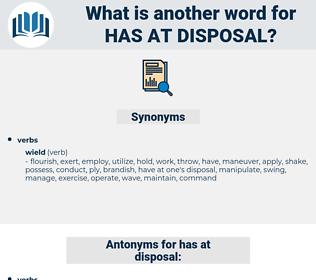 has at disposal, synonym has at disposal, another word for has at disposal, words like has at disposal, thesaurus has at disposal