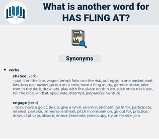 has fling at, synonym has fling at, another word for has fling at, words like has fling at, thesaurus has fling at