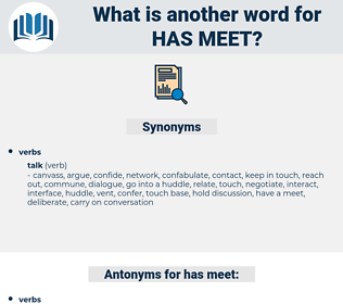 has meet, synonym has meet, another word for has meet, words like has meet, thesaurus has meet