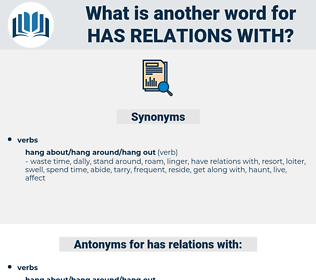 has relations with, synonym has relations with, another word for has relations with, words like has relations with, thesaurus has relations with