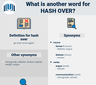 hash over, synonym hash over, another word for hash over, words like hash over, thesaurus hash over