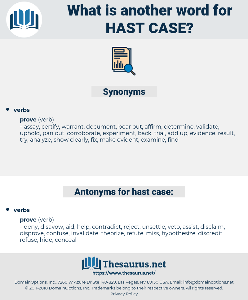 hast case, synonym hast case, another word for hast case, words like hast case, thesaurus hast case