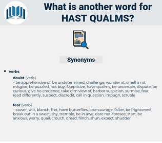 hast qualms, synonym hast qualms, another word for hast qualms, words like hast qualms, thesaurus hast qualms