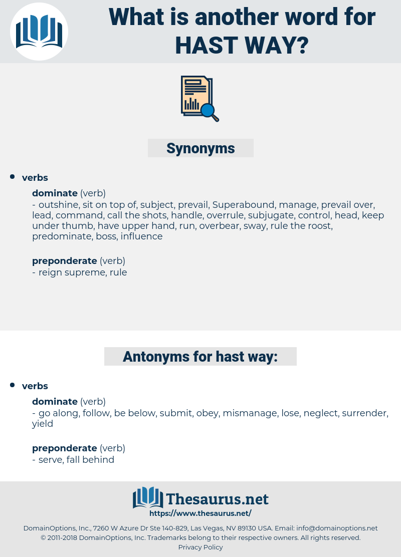 hast way, synonym hast way, another word for hast way, words like hast way, thesaurus hast way