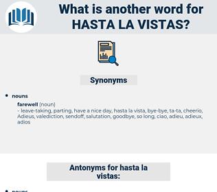 hasta la vistas, synonym hasta la vistas, another word for hasta la vistas, words like hasta la vistas, thesaurus hasta la vistas