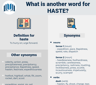 haste, synonym haste, another word for haste, words like haste, thesaurus haste